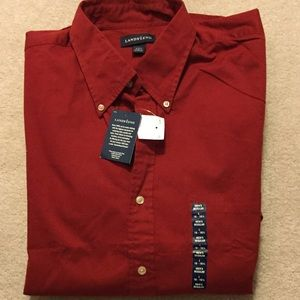 Men's long sleeve button up by Lands End NWT